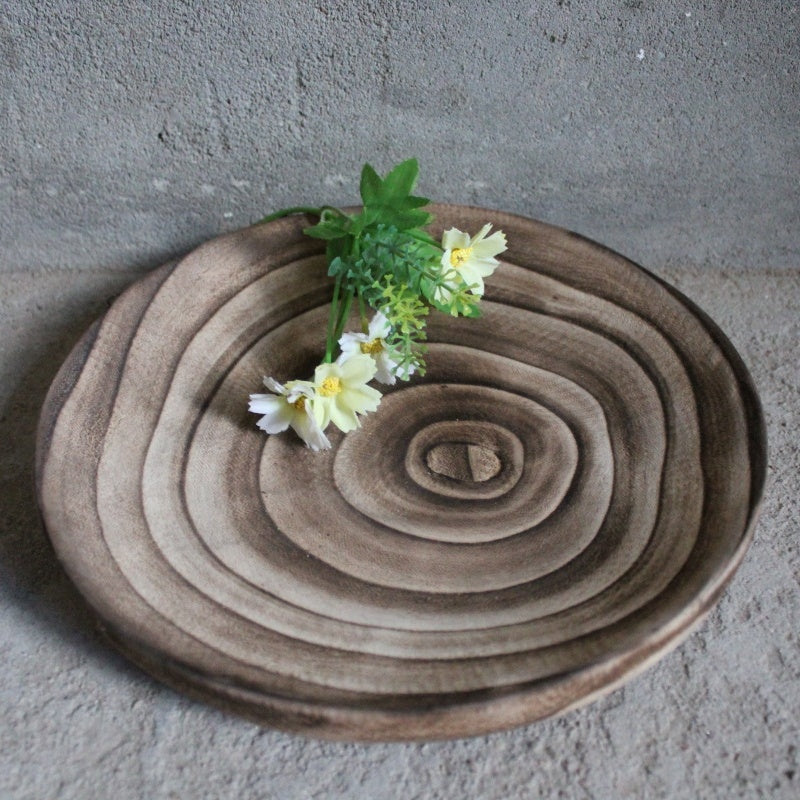 Natural Handmade Exotic Paulownia Wood  Rustic Organic Home Decor Bowl Serving Tray Organizer Modern Chic Scandinavian Mid Century Toronto Live Edge Solid Wood Furniture NosNatura