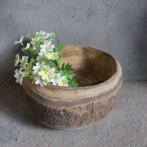 Wood Rustic Serving Bowl Tray (19cm)
