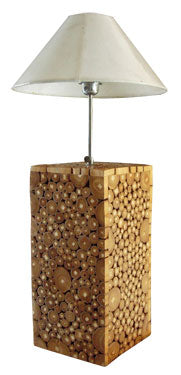 Teak Wood Branch Table Lamp & Accent Lighting (White)