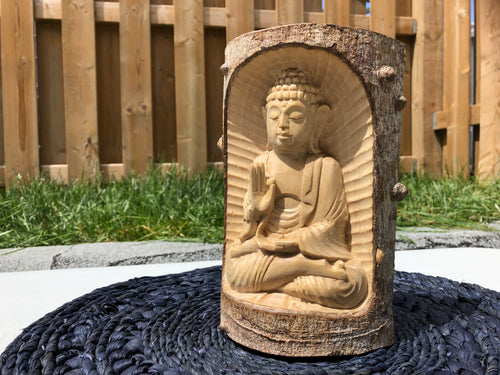 Handcrafted Buddha Statue in Meditation Home Decor Art Decor Yoga Room Decor