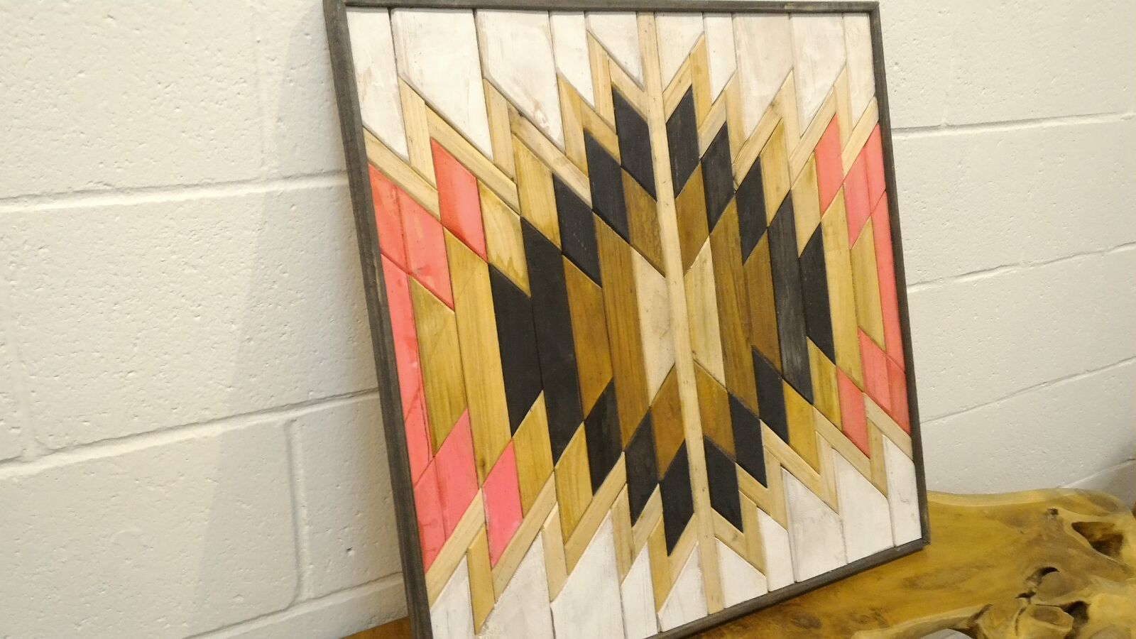 Handcrafted Pine Wood Wall Art
