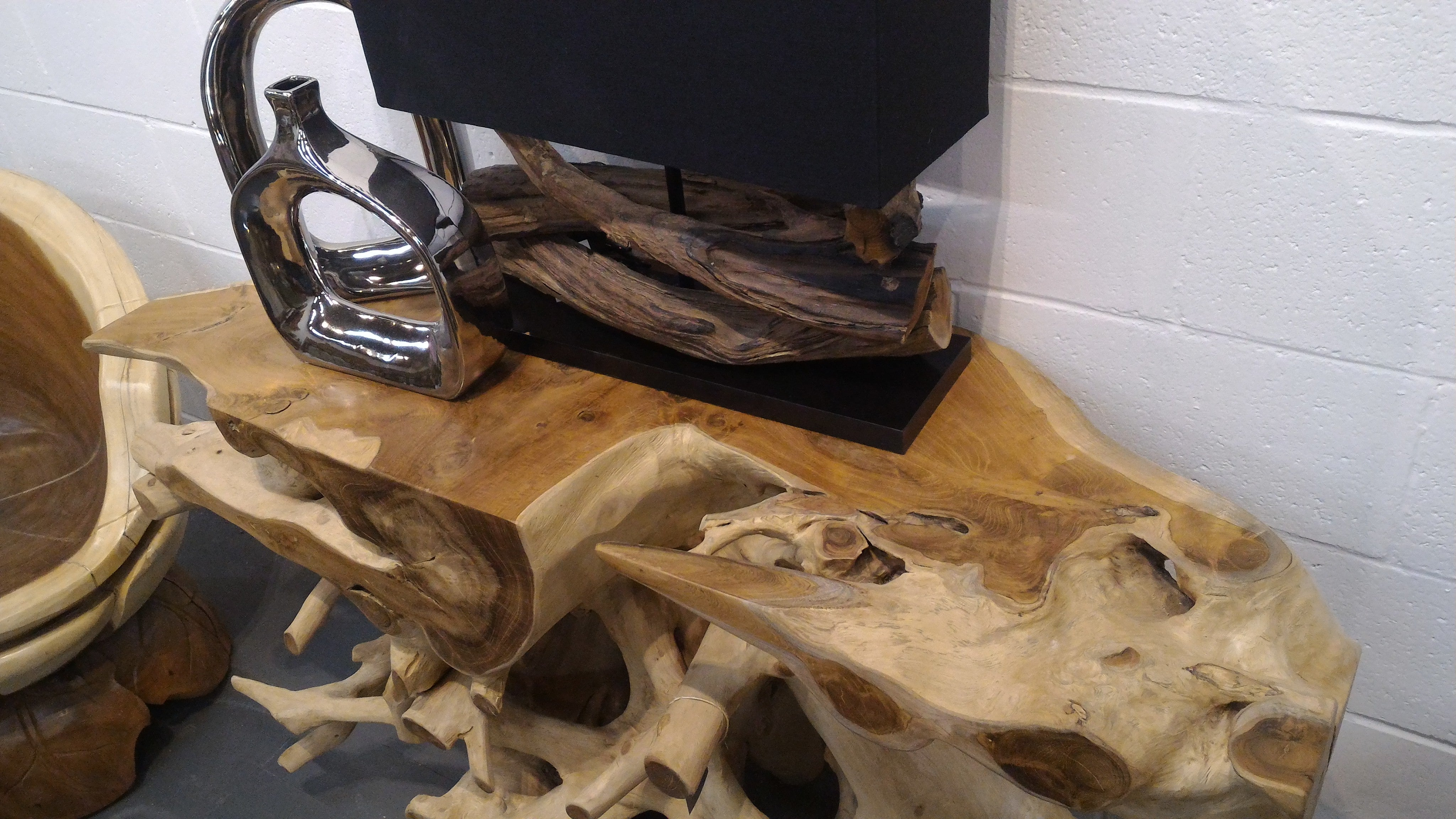 Extra Large (120cm) Live Edge Teak Root Console Table
