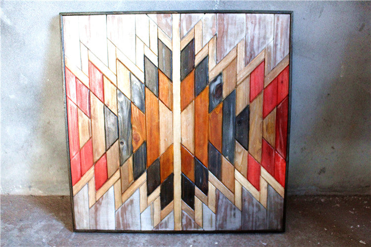 Reclaimed Wood Wall Art, Geometric, Tribal, Boho Salvaged Sculpture, Rustic, Chevron Art, Nos Natura Furniture Store Toronto Live Edge Solid Wood Furniture, Mid Century, Decor, nosnatura.com