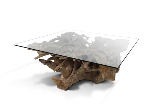 Natural Teak Root Coffee Table Or Cocktail Table