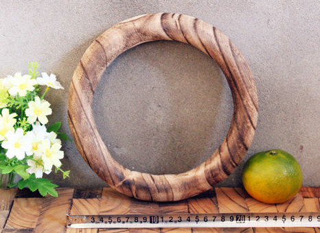 Tropical Hand-Carved Circular Sculpture Rustic Modern Contemporary Mid Century Wood Art Home Decor Cottage Home Office Round Oval nosnatura.com toronto Live Edge Solid Wood Furniture