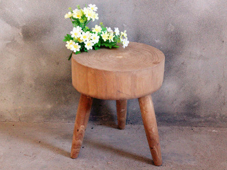 Wooden Rustic Stool Log End Side Table Living Room Modern Contemporary Cottage Home Office Home Decor Accent Mid Century Live Edge Solid Wood Furniture Store Toronto NosNatura.com
