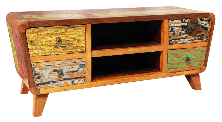Reclaimed Boat Wood Cabinet U0026 Sideboard (Multi Color)