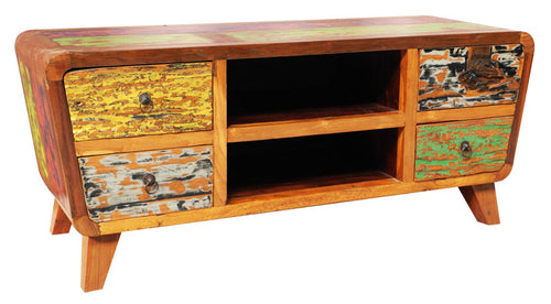 [Moving Sale] Reclaimed Boat Wood Cabinet & Sideboard (Multi-color)