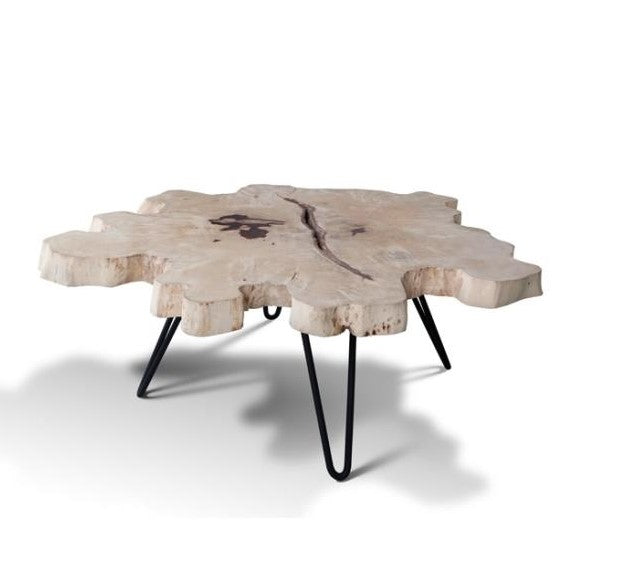 Unique Exotic Live Edge Slab Coffee Table For Sale Rare Find - Long wooden side table