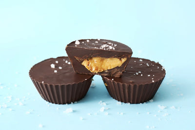 Dark Chocolate Almond Butter Cups with Sea Salt (Dairy Free)