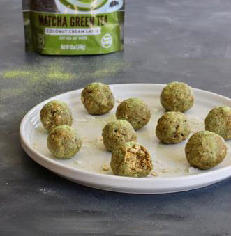 Coconut Matcha Energy Bites (Vegan)