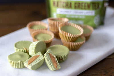 Matcha White Chocolate Peanut Butter Cups (Vegan)