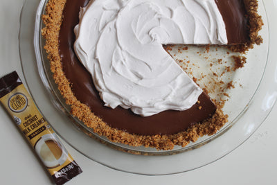Chocolate Pudding Pie with Coconut Whipped Cream (Vegan)