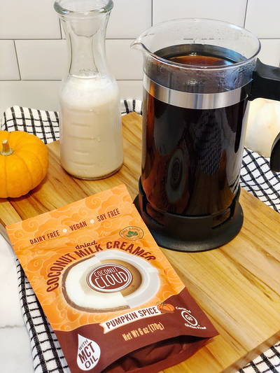 Coconut Cloud Pumpkin Spice Latte (Vegan, Dairy-Free)