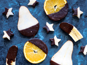 Recipe: Decadent Dark Chocolate Dipped Fruit Slices (Vegan)