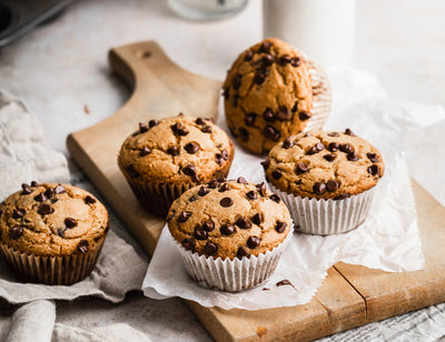 Coconut Turmeric Chocolate Chip Muffins (Dairy Free)