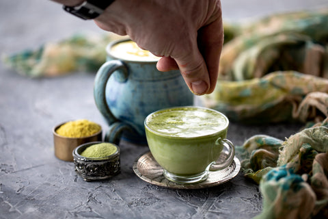 matcha latte vegan coconut milk