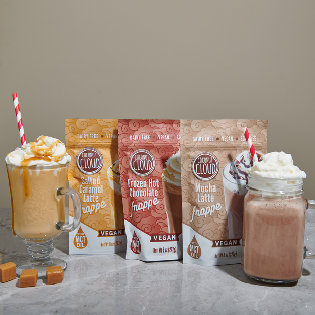 Bulk: Dairy-Free Salted Caramel Latte Frappe, 12 Pouches