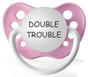 Double Trouble Pacifier - Pink