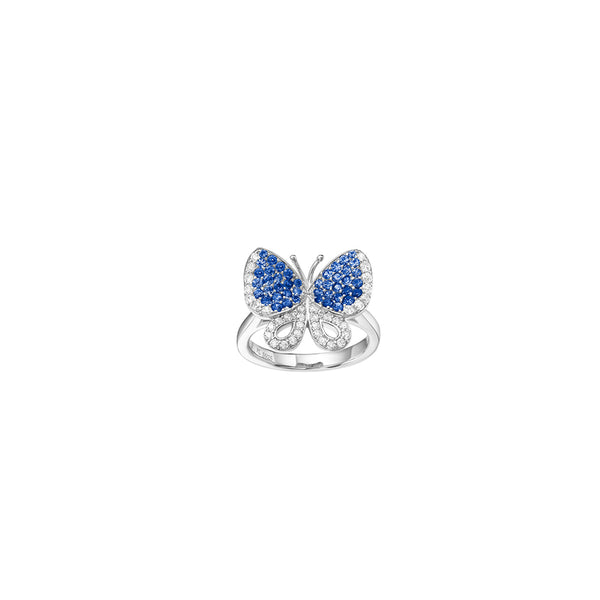 Butterfly Large Ring White