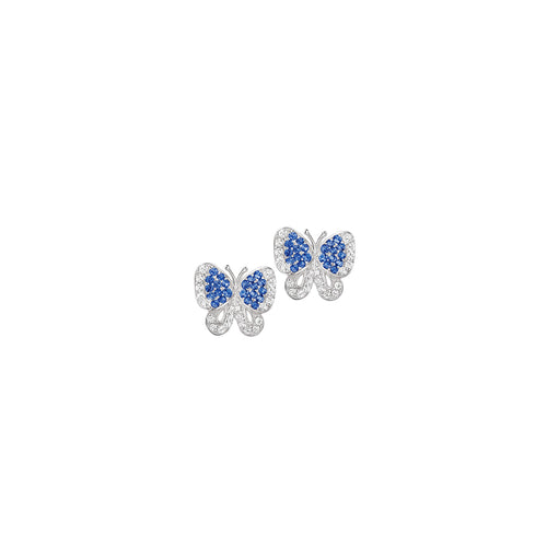 Butterfly Stud Earrings White
