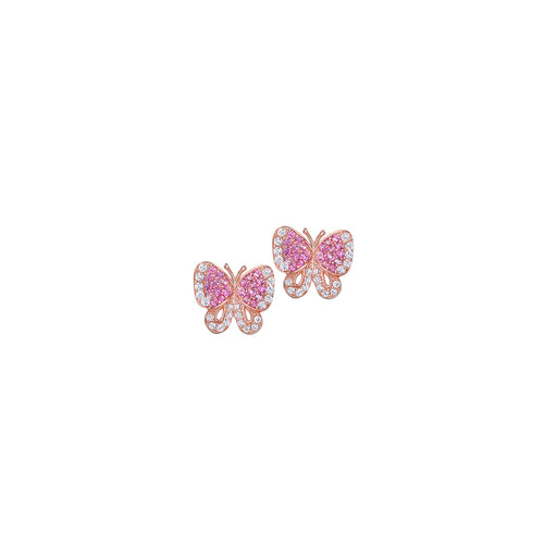 Butterfly Stud Earrings Rose
