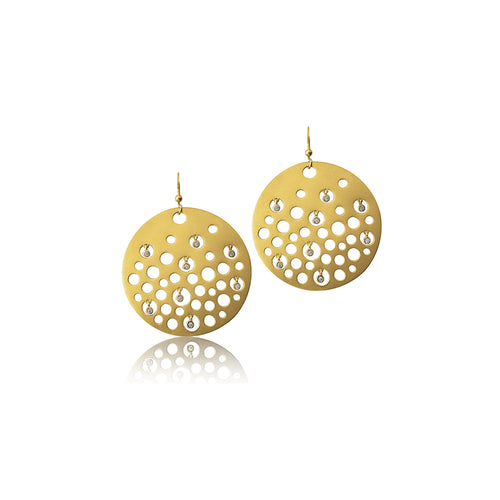 Drop Earring Yellow Gold plated