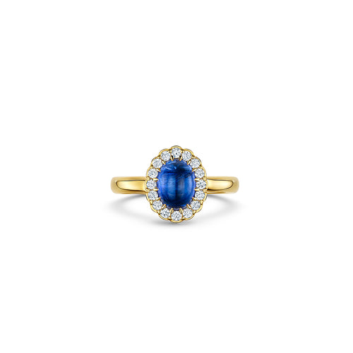 Cannele Cabochon Ring with Tanzanite