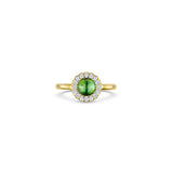 Cannele Cabochon Ring with Tourmaline
