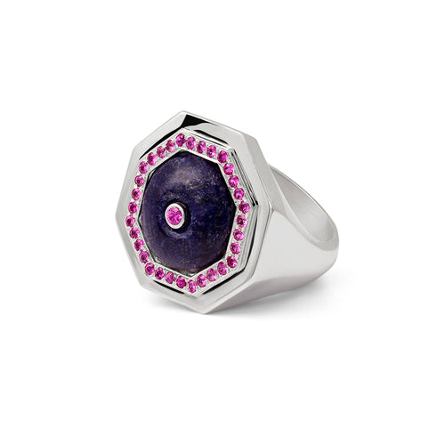 Clementina ring Lapis Lazuli and Pink Sapphire