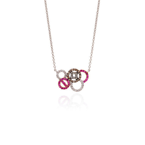 Coin Multicircle necklace