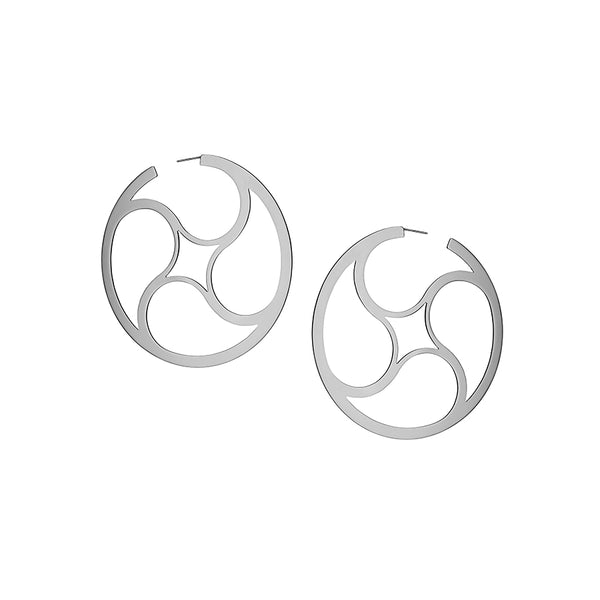 Crop Circles Mystery Hoops Small Silver