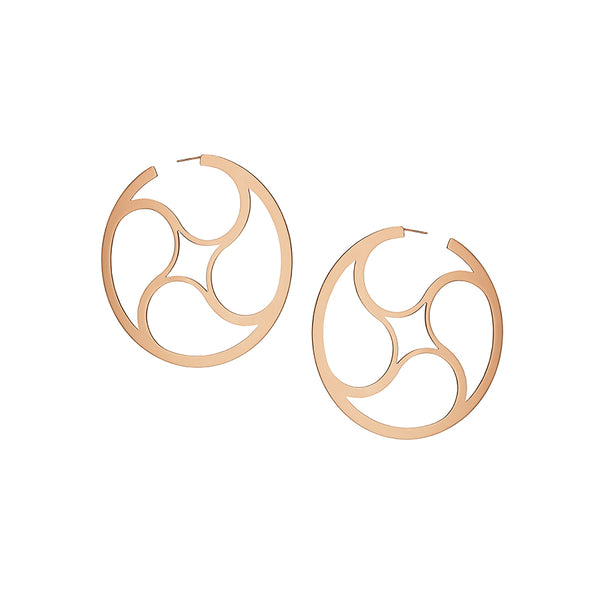 Crop Circles Mystery Hoops Small Rose Gold