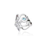 Mari Splash Ring Silver