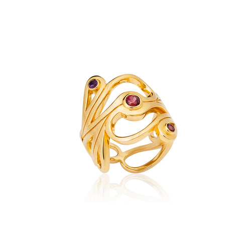 Mari Splash Ring Yellow Gold