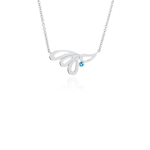 Mari Splash Necklace Silver and Blue Topaz