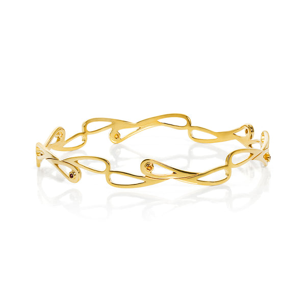 Mari Splash Bangle Yellow Gold Vermeil with Stones