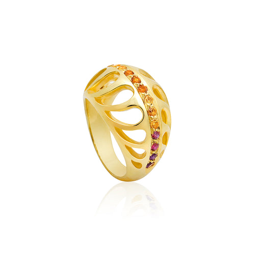 Mari Rush Ring Yellow