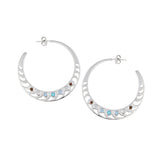 Mari Rush Hoops Silver Large