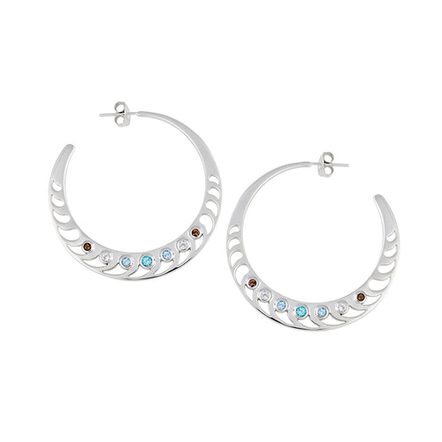 Mari Rush Hoops Silver Small