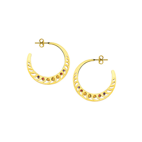 Mari Rush Hoops Yellow Gold Small