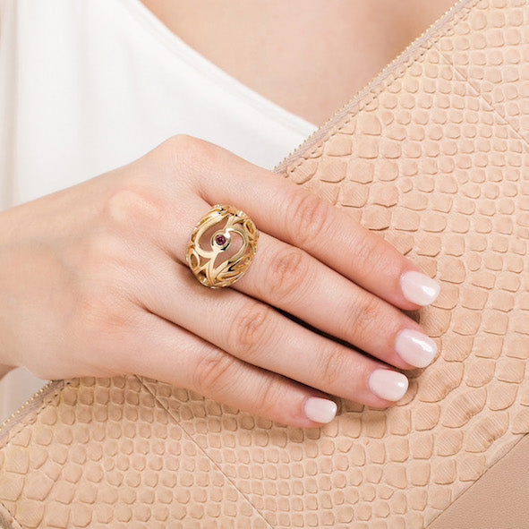 Mari Splash Boule Ring Yellow