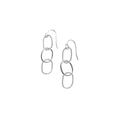 Nautical Chainlink Silver Earring