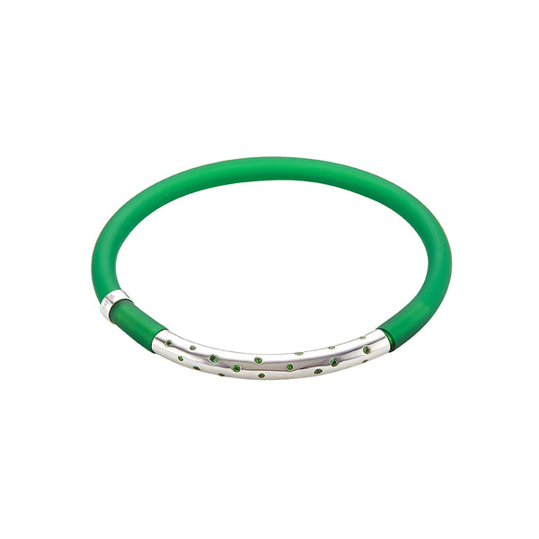 Bottle Green POP! Bracelet large Classic gem set