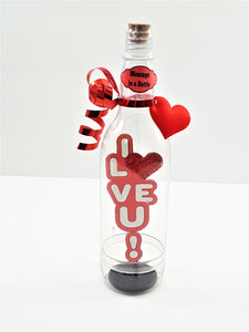 VALENTINE'S DAY 3D GREETING CARD - MESSAGE IN A BOTTLE - I LOVE U! - TheLastWordBish.com