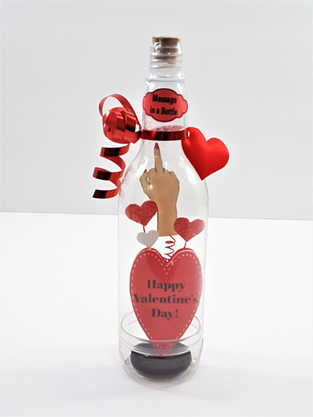 MESSAGE IN A BOTTLE VALENTINE'S DAY MIDDLE FINGER SOLUTE