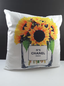 Pillow Cover with Yellow Sunflowers - TheLastWordBish.com