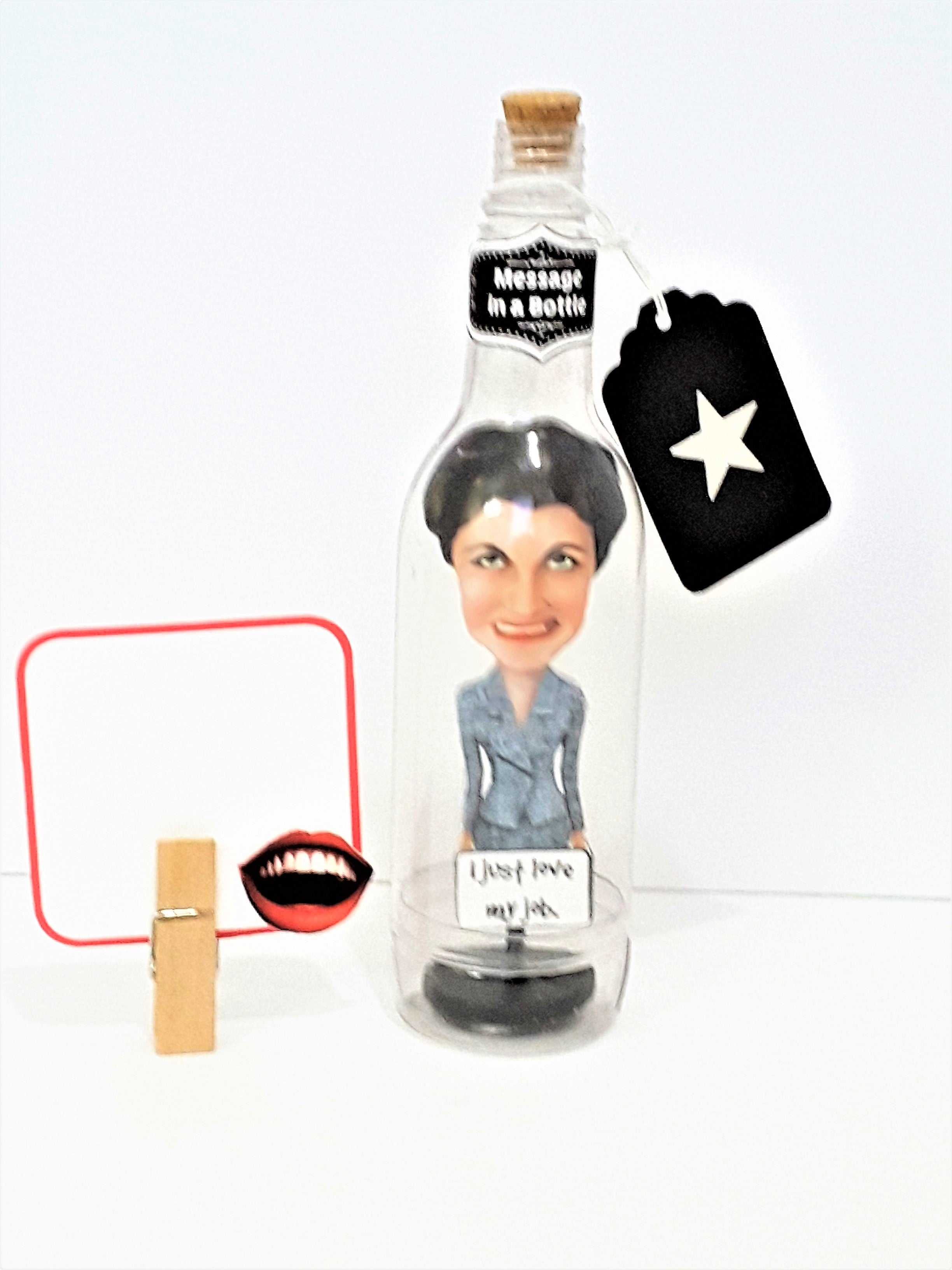 Funny Business Woman Message in a Bottle - TheLastWordBish.com