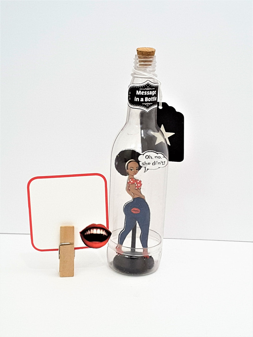 Sassy Black Girl Message in a Bottle
