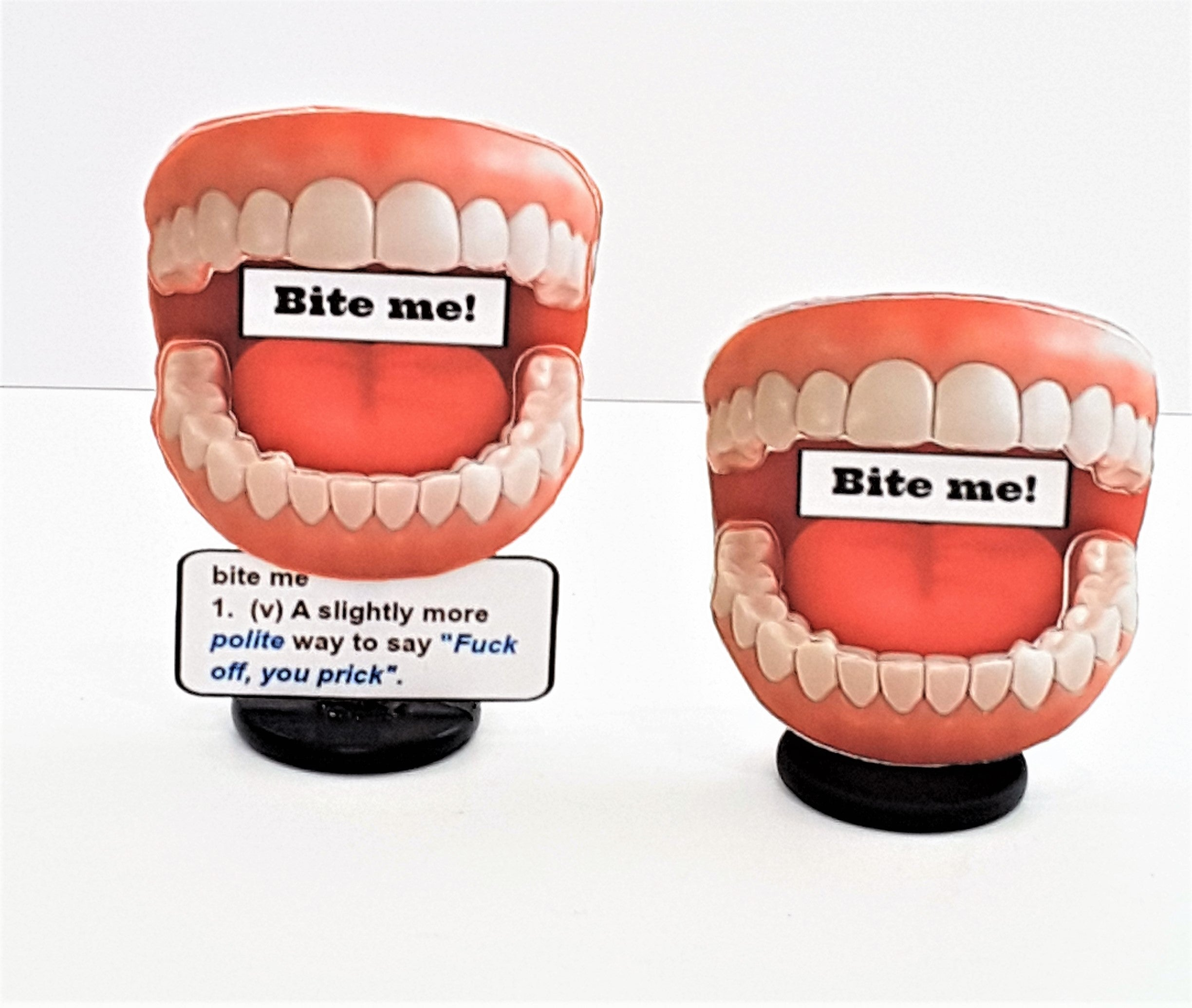 Funny Bite Me Personalized 3D All-Occasion Card - Two versions - TheLastWordBish.com